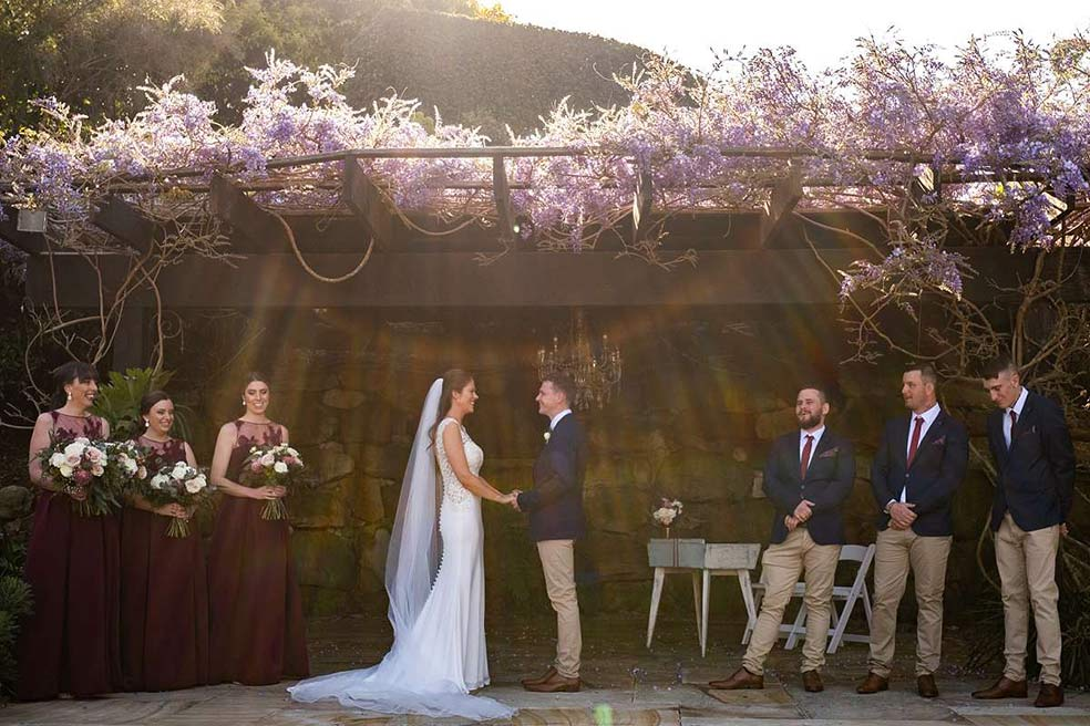 Central Coast wedding photography – Somersby Gardens Estate